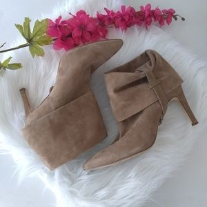 Calvin Klein Bethany Suede Heeled Ankle Boots